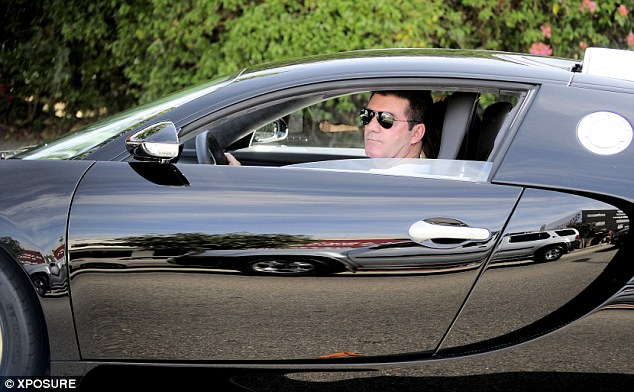 Rare outing: Cowell told Ellen DeGeneres that he drove the car only twice after purchasing it in 2010