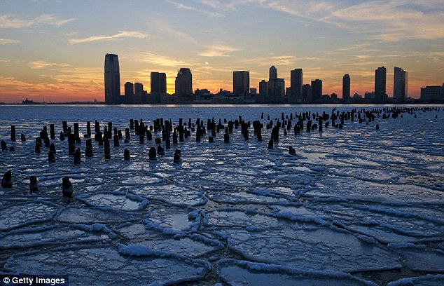 Frozen: Arctic air from last week's Polar Vortex caused many parts of the Great Lakes to freeze over
