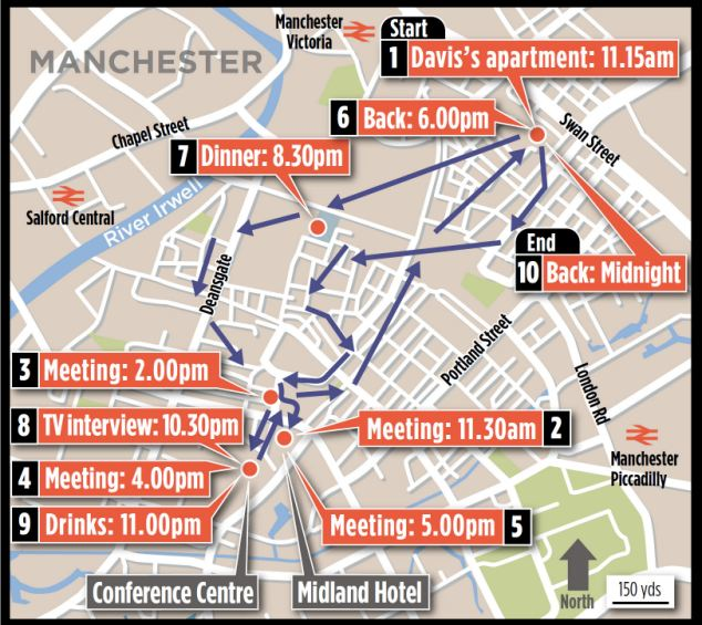 iSpy: How David Davis's phone recorded his movements across Manchester in a single day last year