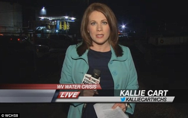 Local news anchor/reporter Kallie Cart from WCHS8 has won plaudits for her dogged interview style