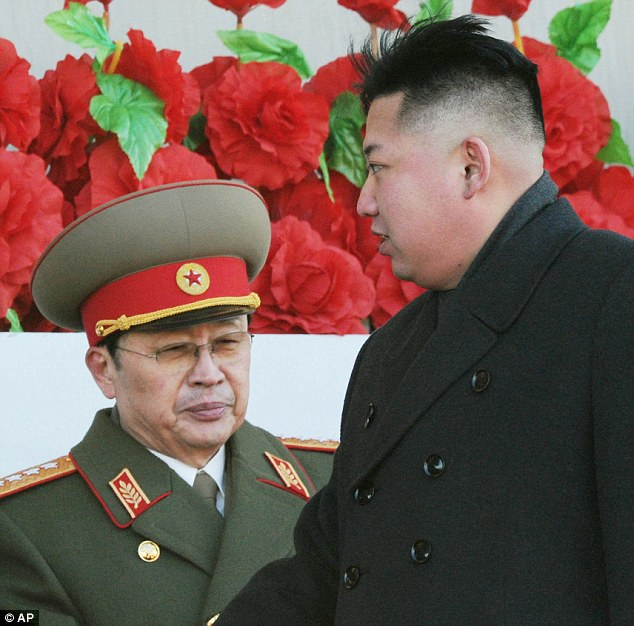 Fresh claims: The ruling family's former sushi chef has said North Korean leader Kim Jong Un (right) may have had his uncle Jang Song Thaek (left) executed because Jang helped procure young girls for his father
