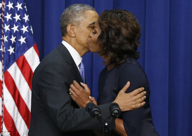 The White House rebuffs claims of tensions within the Obama marriage, claiming they are still role models