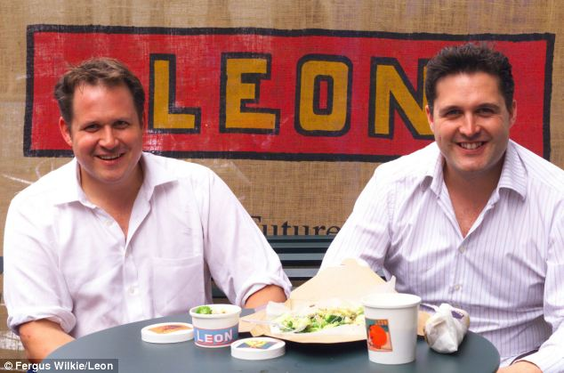 Fears: Government adviser John Vincent (pictured left with Leon co-founder Henry Dimbleby) has said that energy drinks are 'effectively another form of drugs'