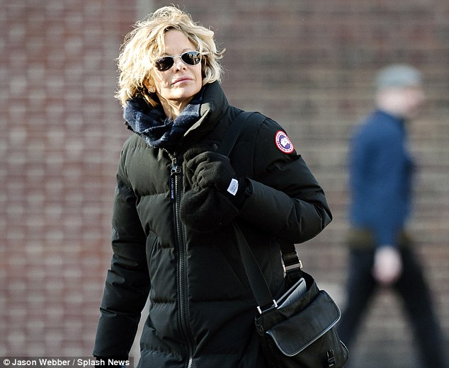 Meg Ryan pictured last month in New York's West Village. Canada Goose's concerted effort to win the US market has seen it become a celebrity brand of choice