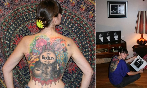 Beatles superfan spends 50hrs getting giant back tattoo dedicated to the band and now wants Paul McCartney to sign it