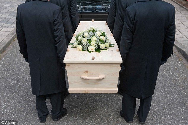 Rising costs: The average cost of a funeral as risen by 80 per cent since 2004