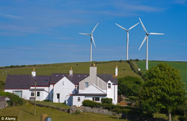 Homes located within 1.2miles of wind farms can decrease in value by up to 11 per cent, a study has discovered