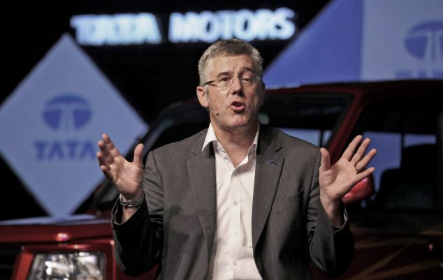 Fall: British-born Karl Slym, managing director of India's Tata Motors has died after reportedly 'jumping' from a hotel balcony