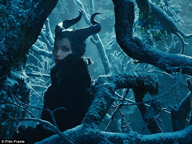 In the woods: Maleficent lures Aurora into the woods and back to her castle
