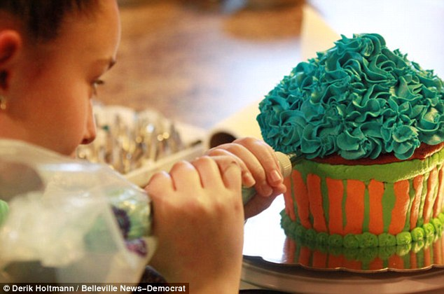 Shut down: The 11-year-old has been forced to close her cupcake business until she gets a license