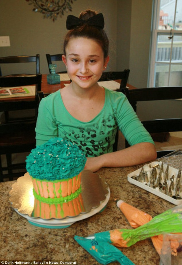Sweet deal: Chloe Stirling set up a business making and selling cupcakes from her parents' kitchen