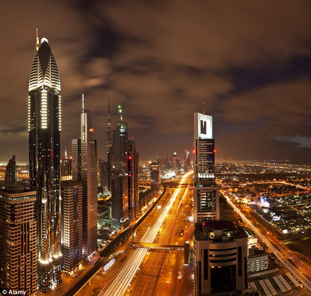 A view of Dubai skyscrapers. The woman claimed she was raped by a man in an underground car park in the capital city of the United Arab Emirates
