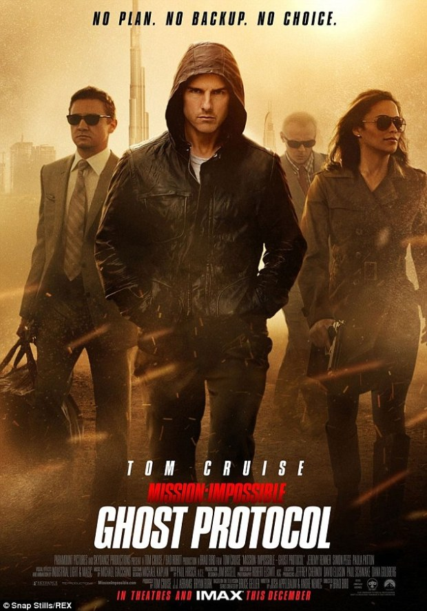 A comeback: Mission: Impossible - Ghost Protocol was such a massive success, it brought Cruise back on the A list and made a star of Paula Patton