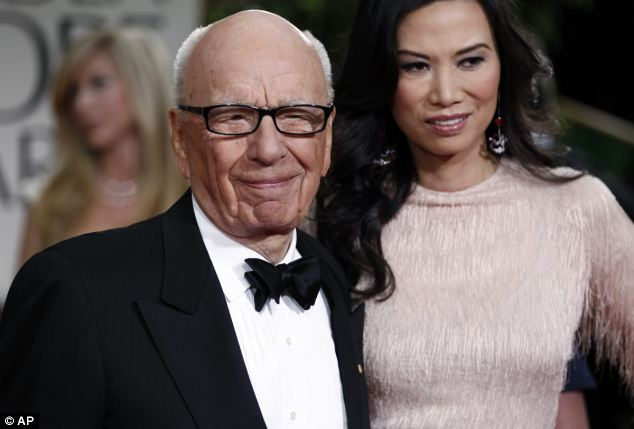Noted: The contents of a secret note said to have been written by Rupert Murdoch's ex-wife Wendi Deng about Tony Blair have been 'revealed' for the first time