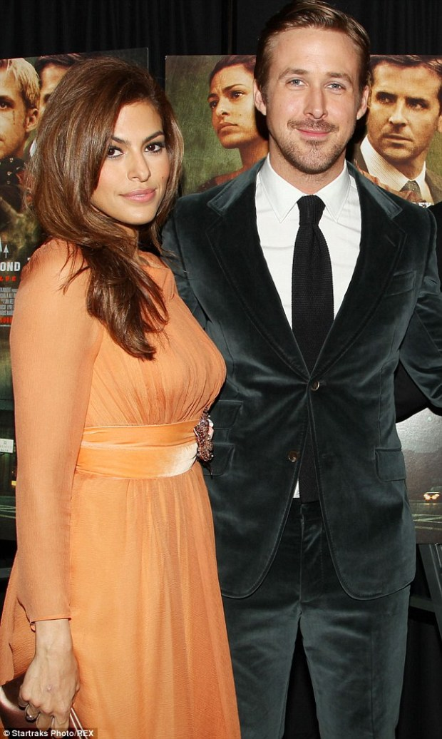 Done for good?: Eva Mendes and Ryan Gosling, pictured in March, have split according to two reports out Wednesday
