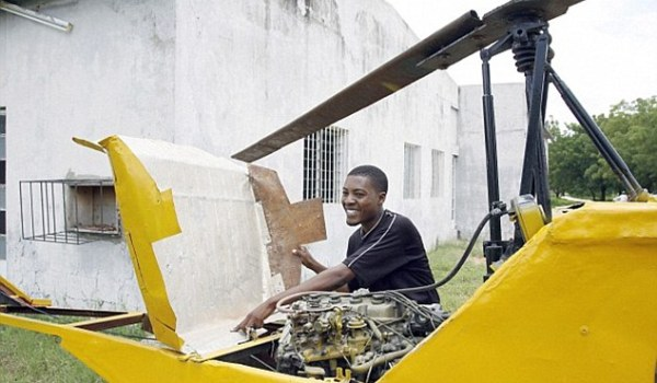 Dedicated: Young men in Nigeria try to make their own aircraft, but few gain success or international attention