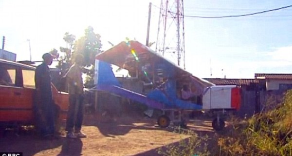 Efforts: The entrepreneur has made more than 10 scrap metal planes, but many have been too heavy to fly