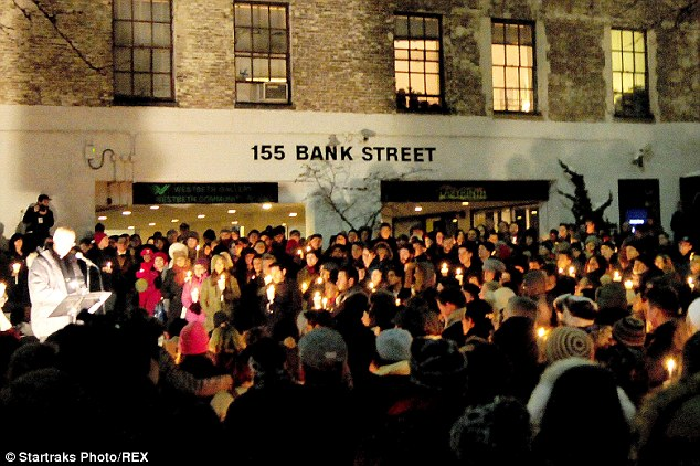 West Village: The community prayer and candlelight vigil was sponsored by the Labyrinth Theater Company