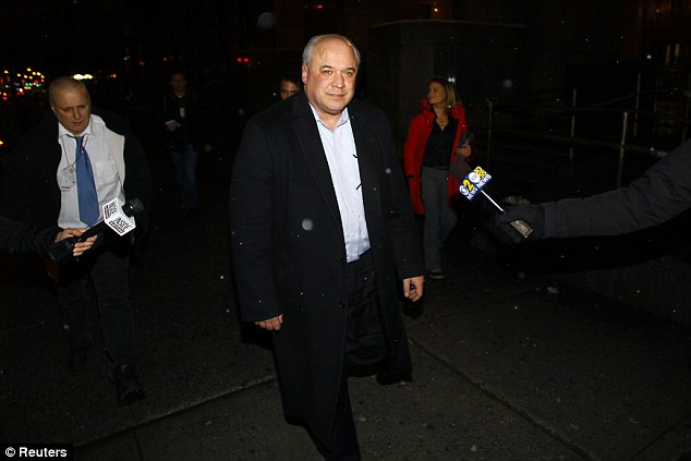Father: Attorney Michael Luchkiw leaves New York City Criminal Court after attending his daughter Juliana Luchkiw's arraignment Wednesday night