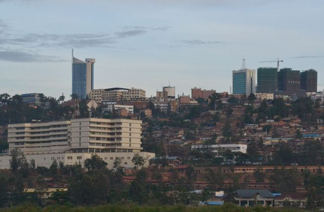 Downtown in the Rwandan capital, Kigali: Just over 3 per cent of the Rwandan population - between 180,000 and 250,000 people - live with HIV. More than half are women and children, according to UNICEF statistics