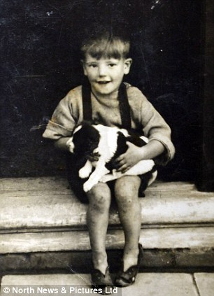 Robert, seen aged three with his dog, Lady, in this picture, was the 11th and last Brudenell child