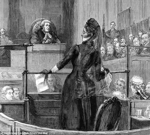 Florence reading her statement in court.