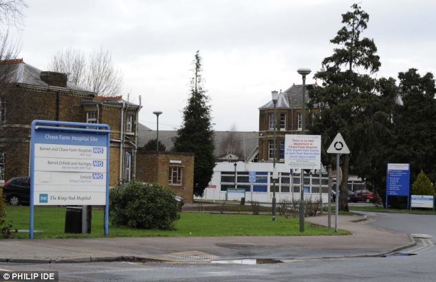 Downgrade: Chase Farm Hospital's A&E was controversially closed. It is six miles from Barnet Hospital, heaping pressure on the North London trust's emergency department