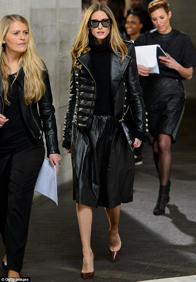Another day hard at work: The star was seen at New York Fashion Week last week and appears to be at London Fashion Week for the full week ahead