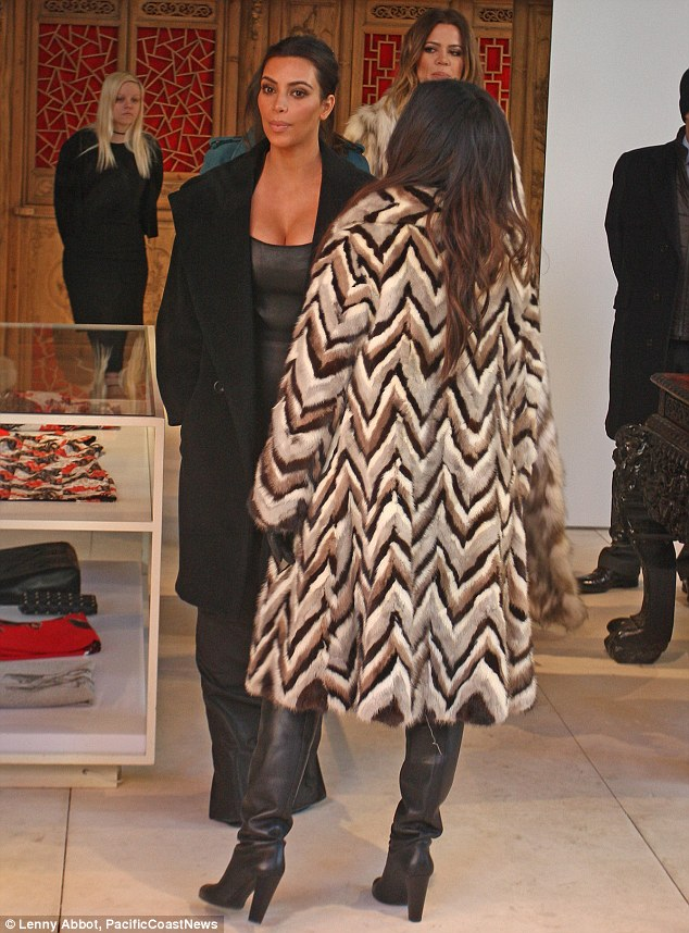What would Kim say? Khloe distanced herself from PETA in 2012 after Kim was flour-bombed by an animal rights activist
