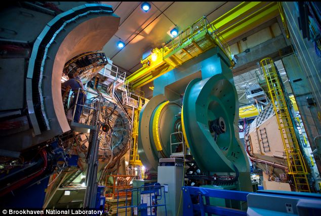Two legal experts have called for a risk assessment to look into the risks of producing catestrophic chain reactions at national laboratories, including Brookhaven. The PHENIX detector at the RHIC is pictured. It records many different particles emerging from RHIC collisions, including quark-containing particles called hadrons