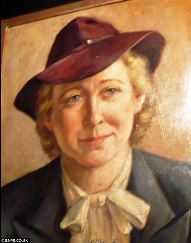 For sale: This portrait of Eva Braun that she once owned is to be offered for sale. It was lost for 70 years and is expected to sell for £6,000