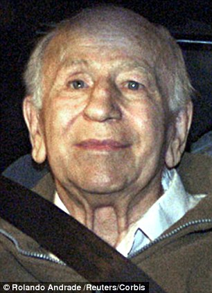 Evil: Nazi soldier Paul Schafer (pictured here on his arrest in 2005) recreated himself as a pastor after 1945 and established a colony in Chile