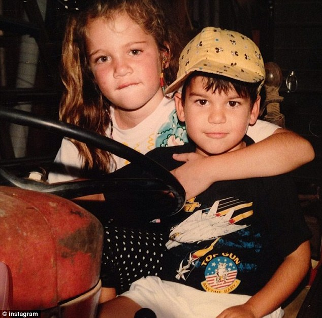 Happier days: Rob posted a snapshot of himself and Khloe together as children on Instagram on Friday