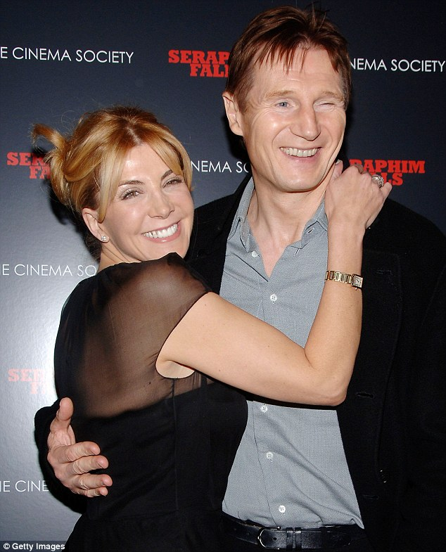 Loving couple: Neeson seen with wife Natasha Richardson in 2007 at a screening of Seraphim Falls in New York