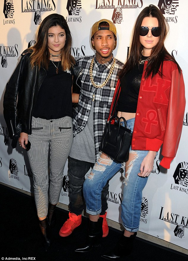 Kylie And Kendall Jenner Tyga Last Kings Grand Opening