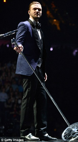 Smooth: Justin looked confident as he performed to the sell-out crowd