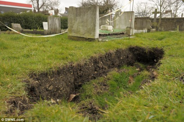Warning: Visitors have been told to be careful where they step in this Gravesend cemetery after large holes began to open up