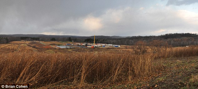 Williams' Rial gas well pad in construction. Donegal, Pa., Nov. 17, 2011.