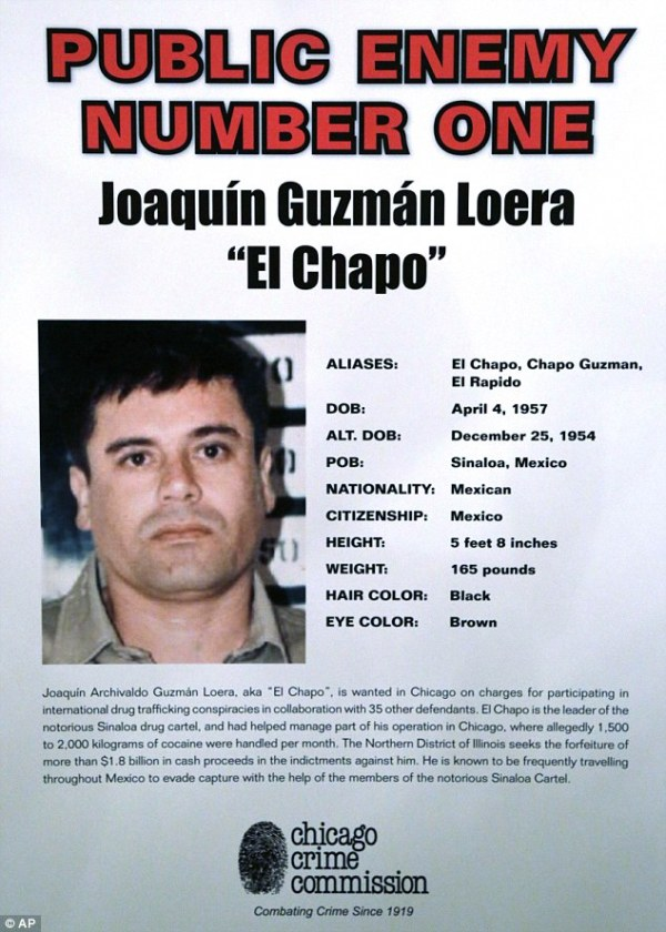 "Joaquin ""El Chapo"" Guzman, head of Sinaloa cartel ..."