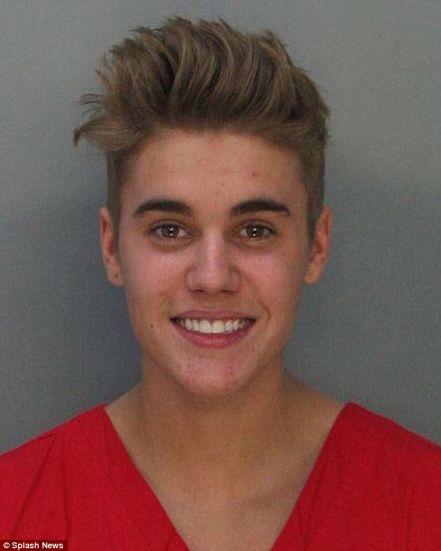 Plea deal: Justin Bieber has been offered a chance to have his DUI charges dropped if he agrees to random drug testing, pictured in his mug shot from January in Florida