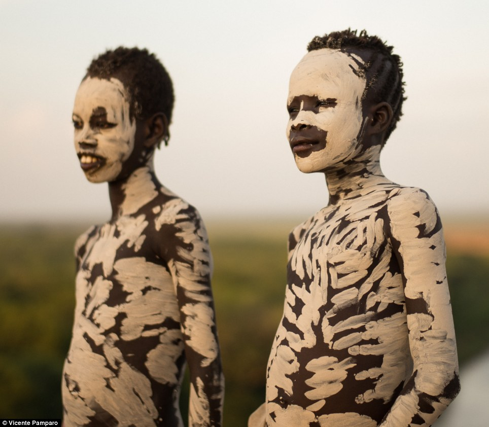 Face mask: The markings are an important part of festivities and ceremonies within the tribe