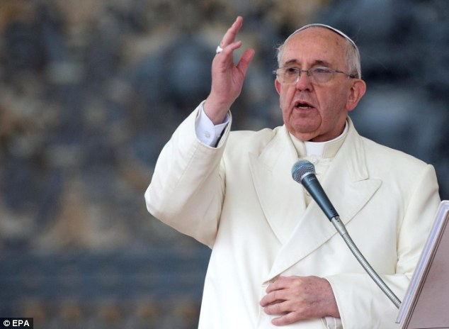 Preacher: Pope Francis, pictured today, has become one of the world's most popular religious leaders, even among the secular community
