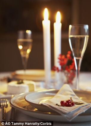 Candlelit dinners really could be good for the heart, new Swedish research has suggested