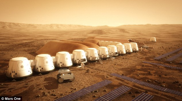 Mars: This illustration shows the plans Mars One has to begin colonizing the Red Planet
