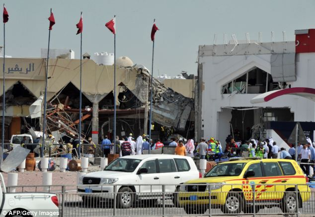 Preliminary investigations suggest a faulty gas canister inside the restaurant may be to blame, with the explosion causing a fire that led to part of the building near a petrol station collapsing
