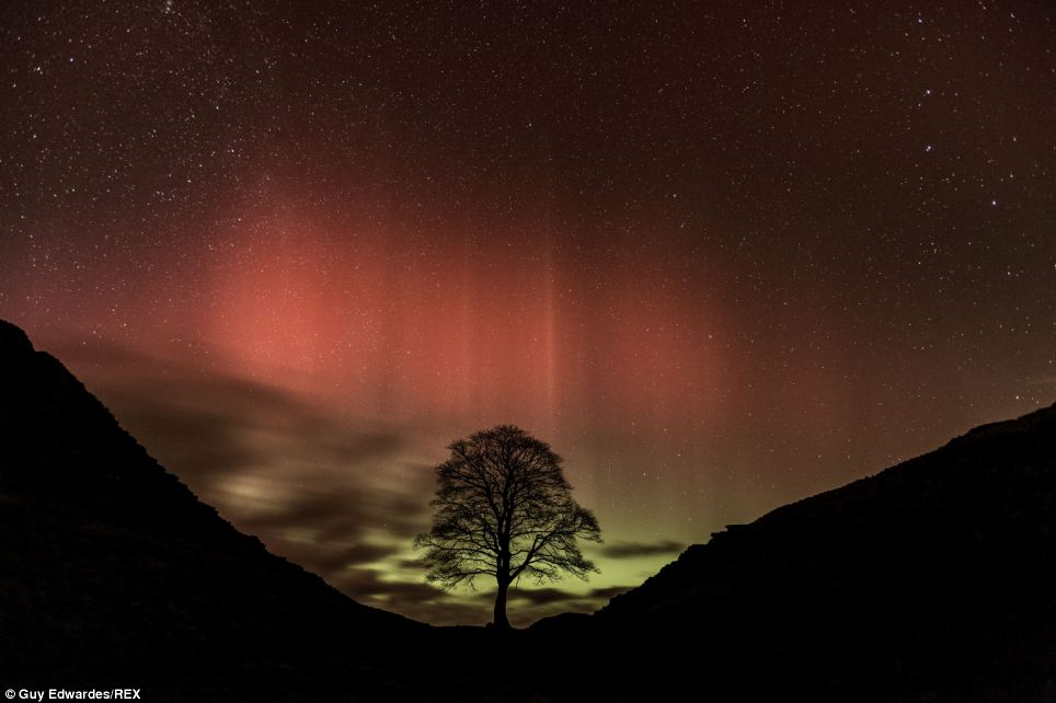 He added: 'When they do get here they cause the gas atoms in the sky to glow. It is as simple as that'