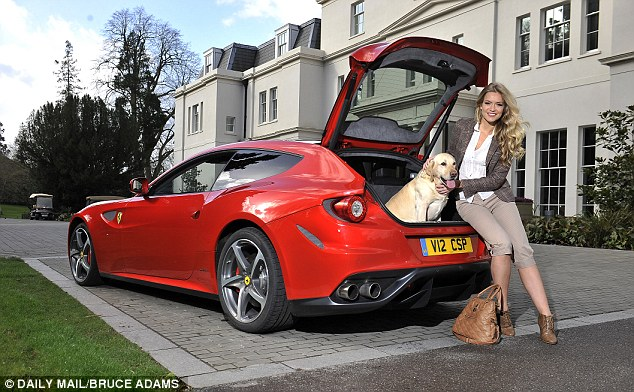 Not a ruff deal: We road-tested the car with tweed-clad former Miss UK Kirsty Heslewood, 24