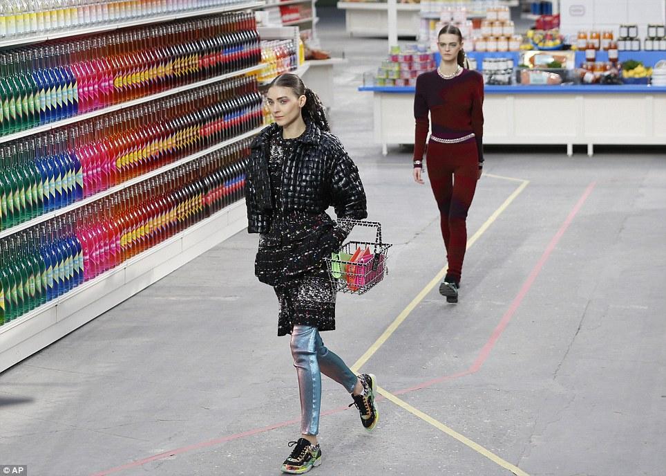 Karl Transforms Runway Into Chanel Supermarket