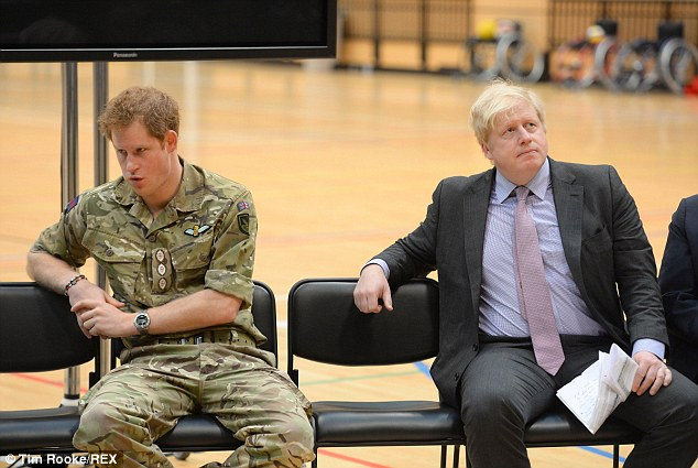 There seemed to be a gap in the conversation between the Prince and London Mayor Boris Johnson, as he attended the launch of the games