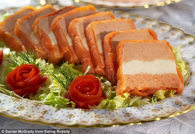 Princess Diana, who was focused on eating healthy after overcoming bulimia, had asked Mr McGrady to serve her a fat-free version of the tomato mousse, while Oprah was eating the original recipe (pictured)